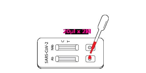 検体(血液)の注入
